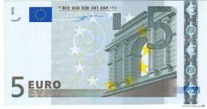 В Европе появилась новая купюра 5 евро