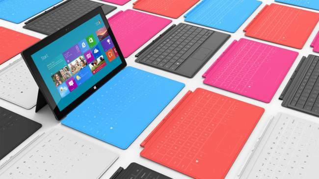 Мини-планшеты Surface на базе Intel и Nvidia