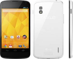 LG Nexus 4 вышел в белом цвете