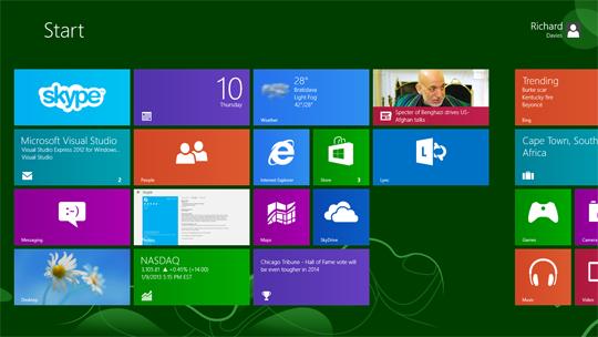 Говорит и показывает Windows 8.1