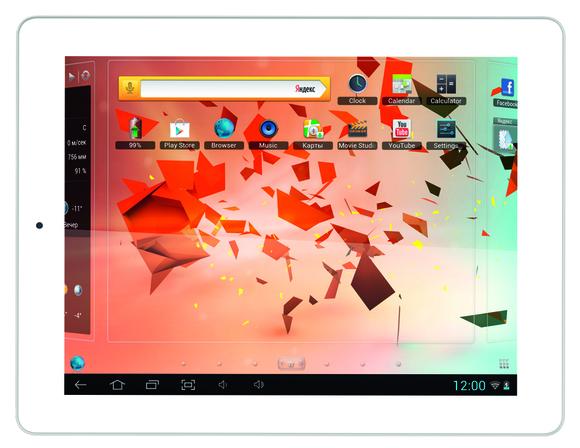 Планшет teXet со сверхчетким экраном