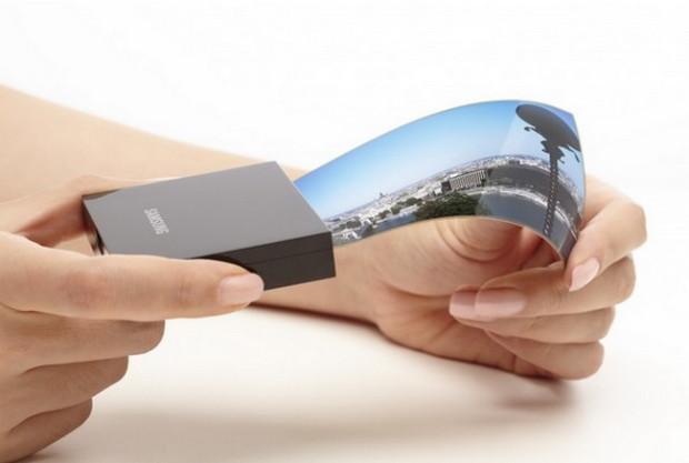 Samsung представит первый гибкий смартфон