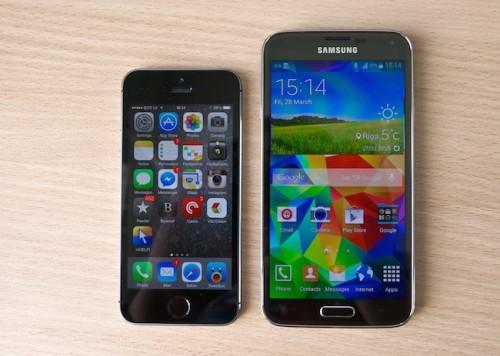Samsung Galaxy S5 популярнее iPhone?