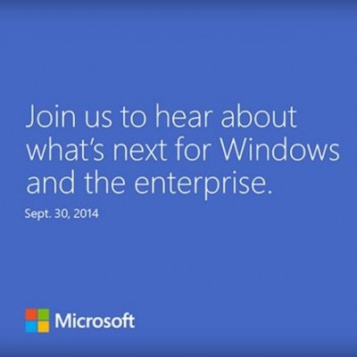 Microsoft рассылает приглашения на презентацию Windows