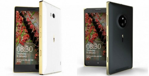 Microsoft объявила о выходе золотых Lumia 830 и Lumia 930