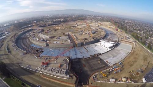 Свежее 4K-видео со стройки новой штаб-квартиры Apple