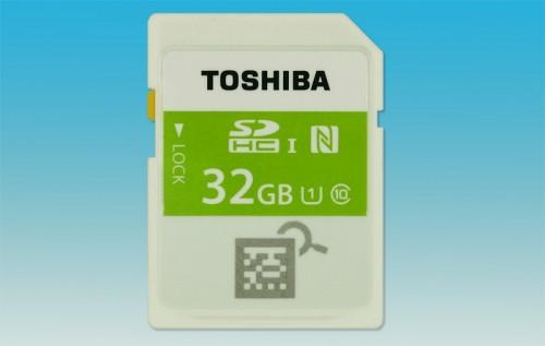 Toshiba представила первую в мире карту памяти с модулем NFC