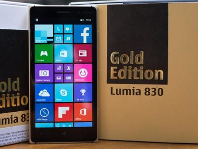 Nokia Lumia 830 Gold Edition - золотая версия флагманского смартфона